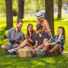 Friends having fun near New Medford in Medford, Oregon