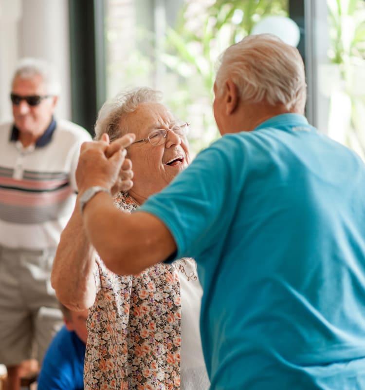 Seniors dancing at Regency Grand at West Covina