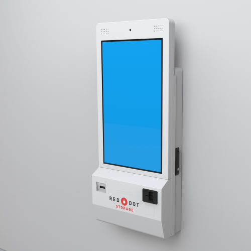 A rental kiosk at Red Dot Storage in Highland, Illinois