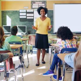 Teacher in an elementary school near Hunt Club Apartments in Cockeysville, Maryland