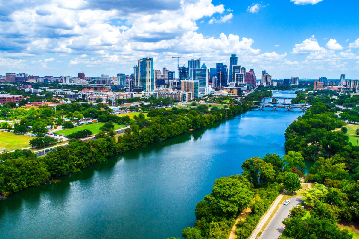 Stunning view of Austin, Texas from Marquis at Treetops