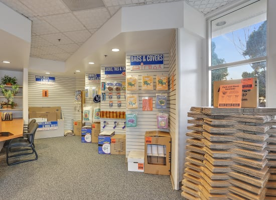 A variety of box sizes available at A-1 Self Storage in Huntington Beach, California