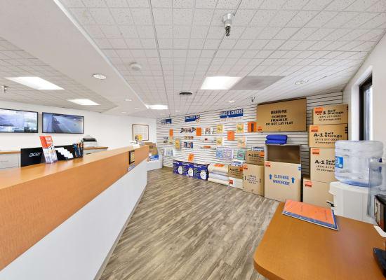 Leasing office at A-1 Self Storage in La Mesa, California