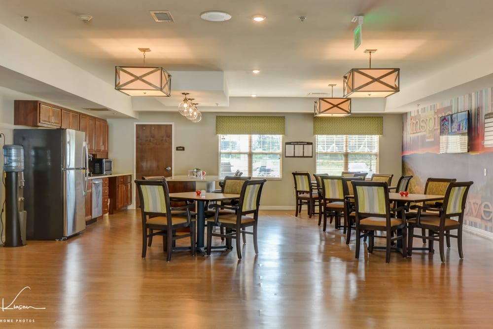 Dining room at Arcadia Senior Living Clarksville in Clarksville, Tennessee