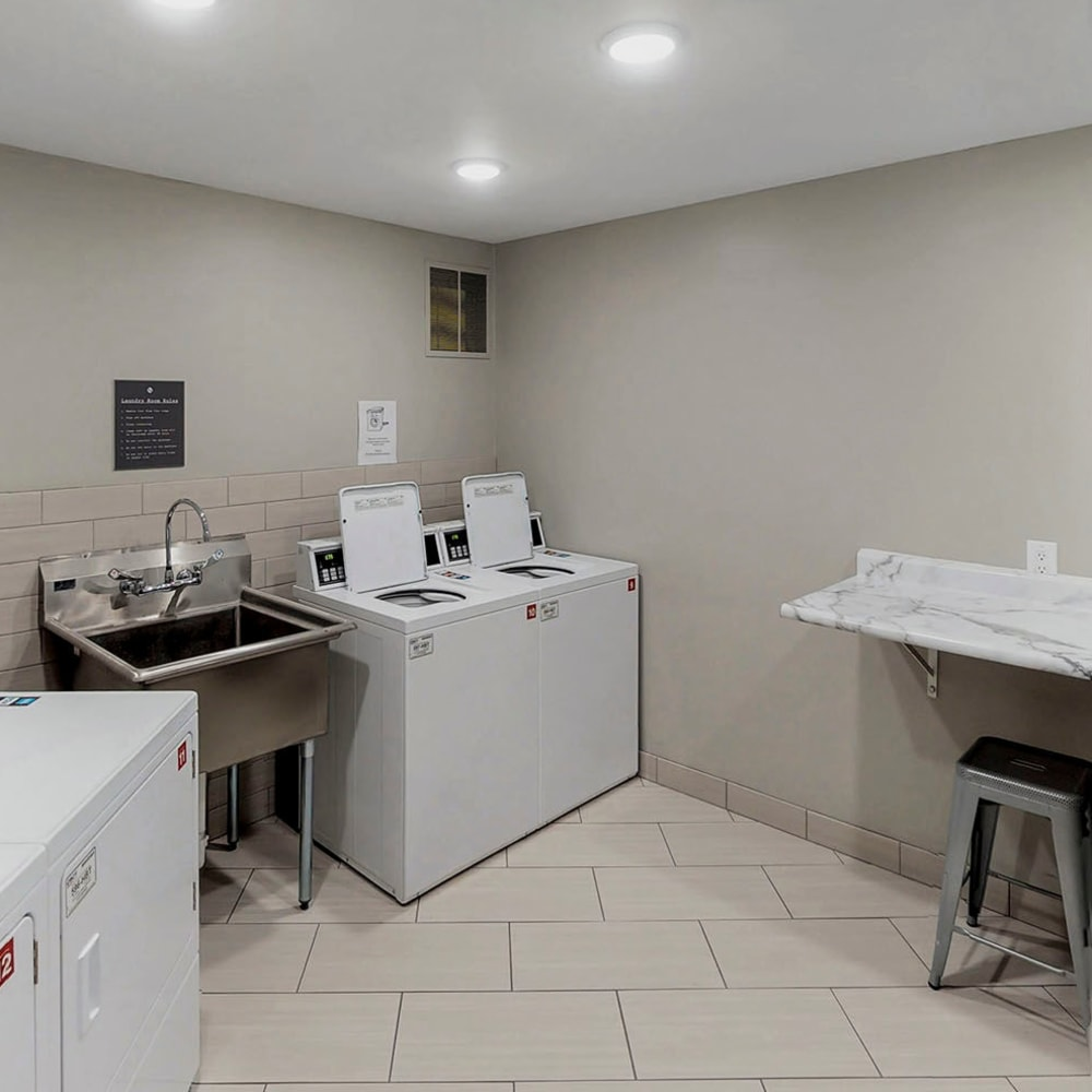 Community laundry facilities at Oaks Braemar in Edina, Minnesota