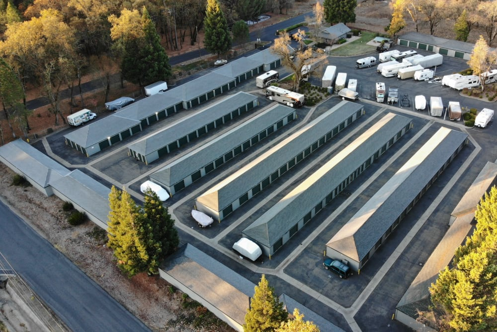 Outdoor view on a sunny day of Superior Self Storage in Rough and Ready, California