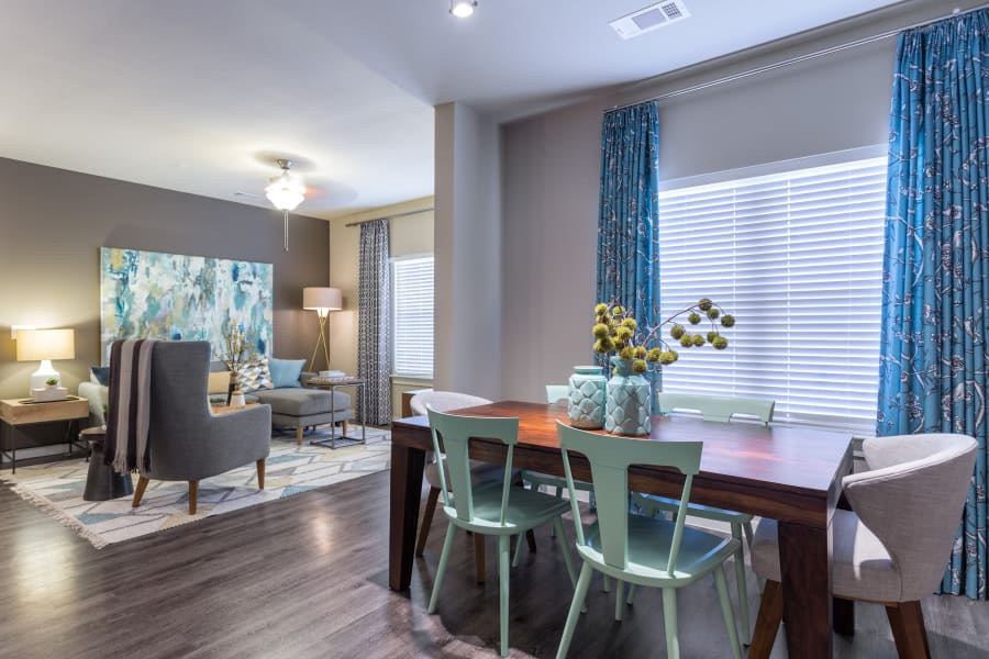 Elegant open living and dining room at Encore 281