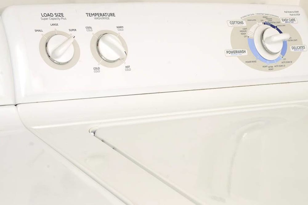 Washer and dryer at The Bluffs at Castle Rock Apartments