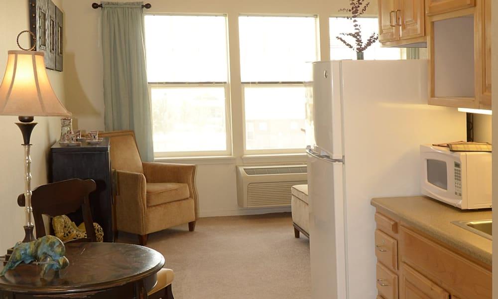 Resident apartment at Wheatfields Senior Living Community in Clovis, New Mexico