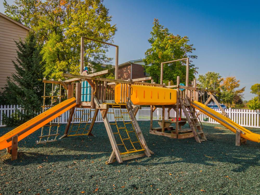 Outdoor playground at Creek Club Apartments in Williamston, Michigan