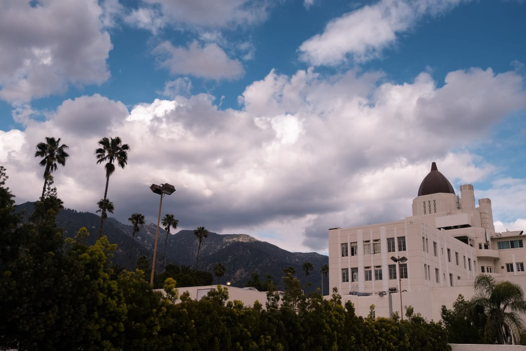Palm trees and building at The Terraces at Park Marino in Pasadena