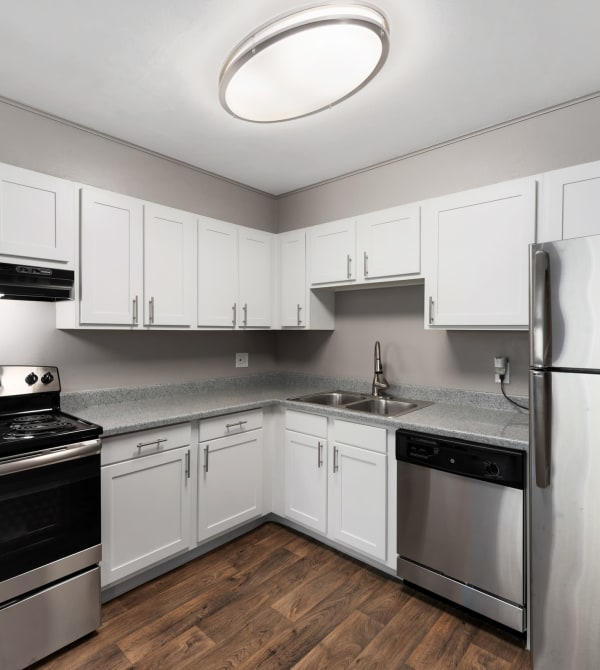 Our apartments in Denver, Colorado, showcase a modern kitchen