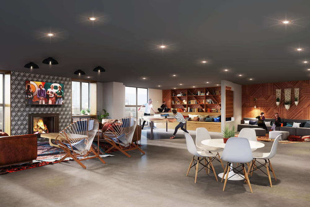 Large living area at 4th + J in San Diego, California