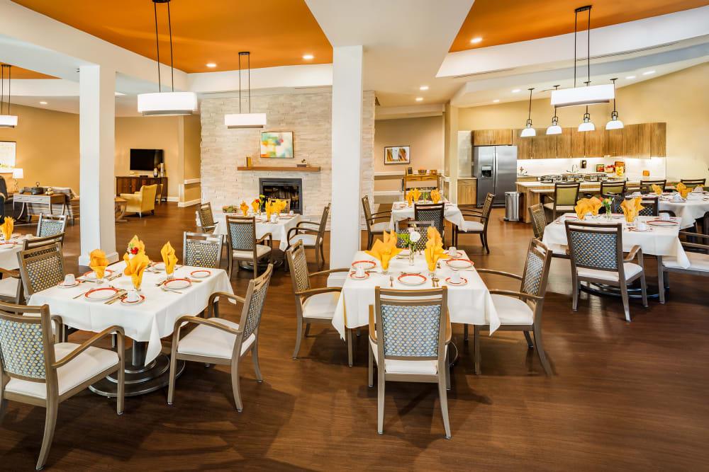 Large dining room at Anthology of Mason in Mason, Ohio