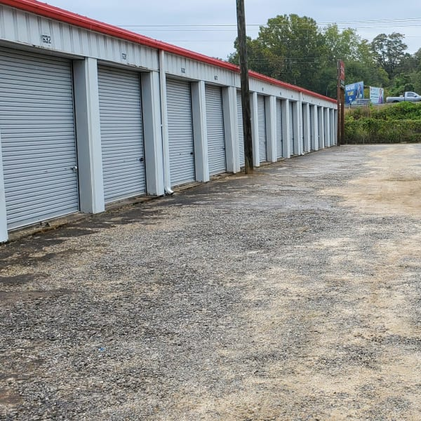 Outdoor storage units at StayLock Storage in Athens, Georgia