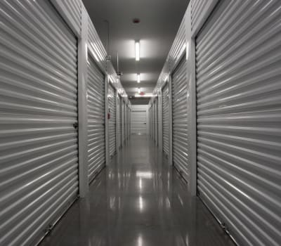 A variety of interior storage units are available at Ballinger Heated Storage in Shoreline, Washington
