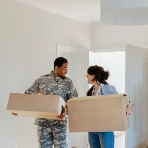 A couple moves into their new home in San Jose, California
