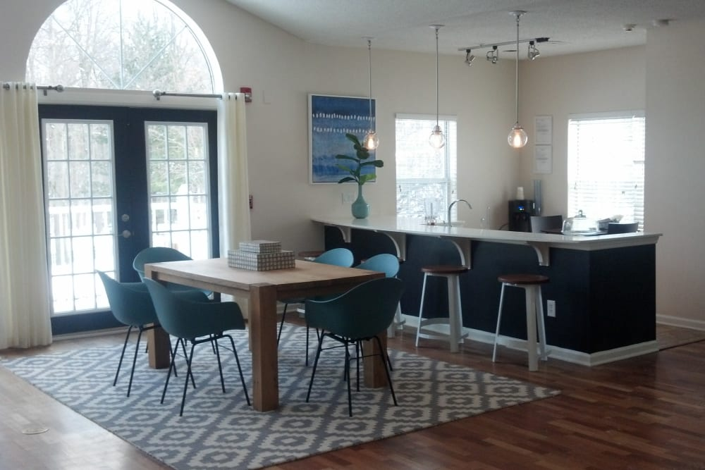 Clubhouse cafe at Vista Point Apartments in Wappingers Falls, New York