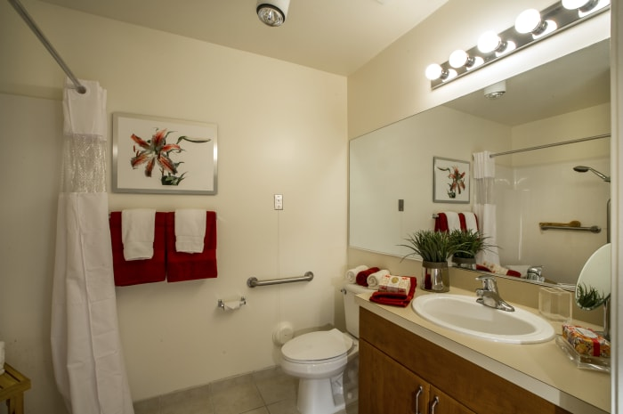 Beautiful bathroom at All Seasons of Rochester Hills in Rochester Hills, Michigan