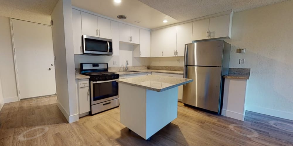 Take a virtual tour of our studio apartments at Mediterranean Village in West Hollywood, California