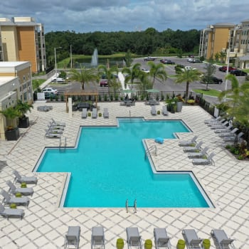 Our resort-style swimming pool is a terrific way to stay in shape at Lola Apartments in Riverview, Florida