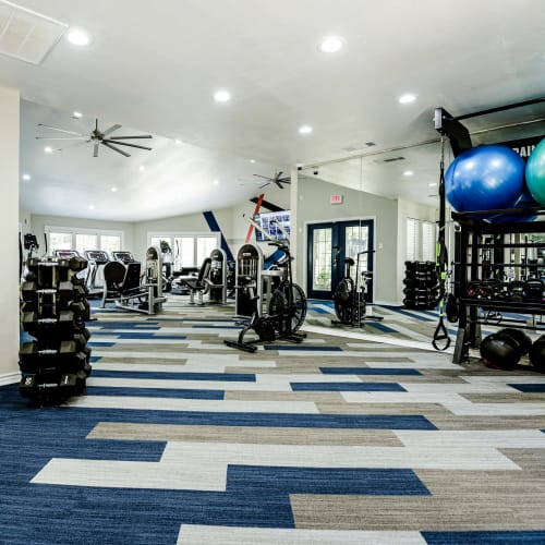 View virtual tour for fitness center at The Regent in Dallas, Texas