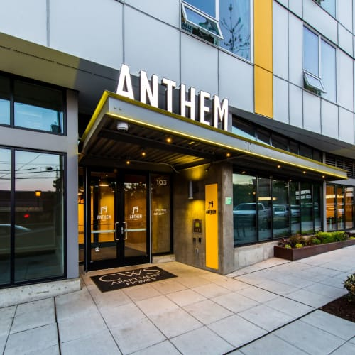 Front door entrance at Anthem on 12th in Seattle, Washington