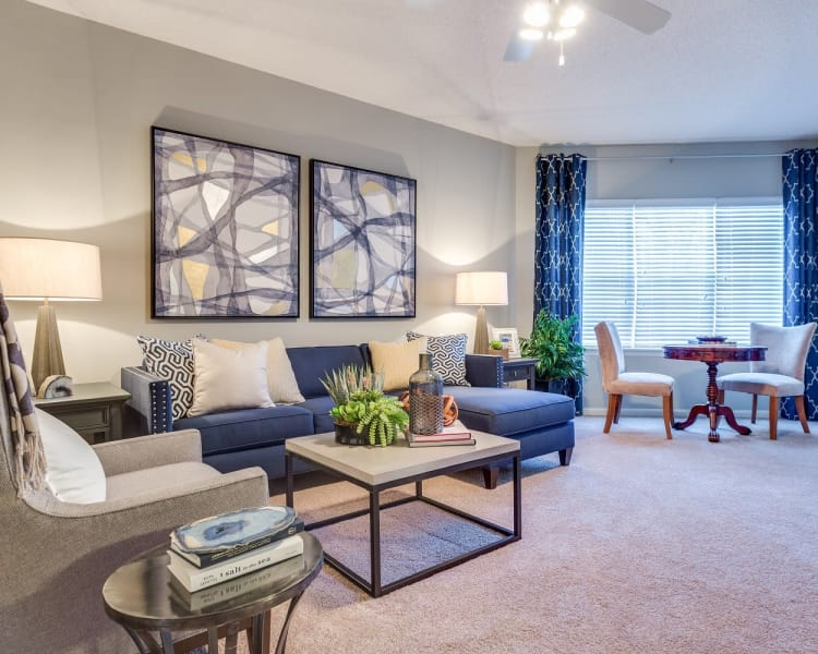 Spacious living room at Harrison Grande