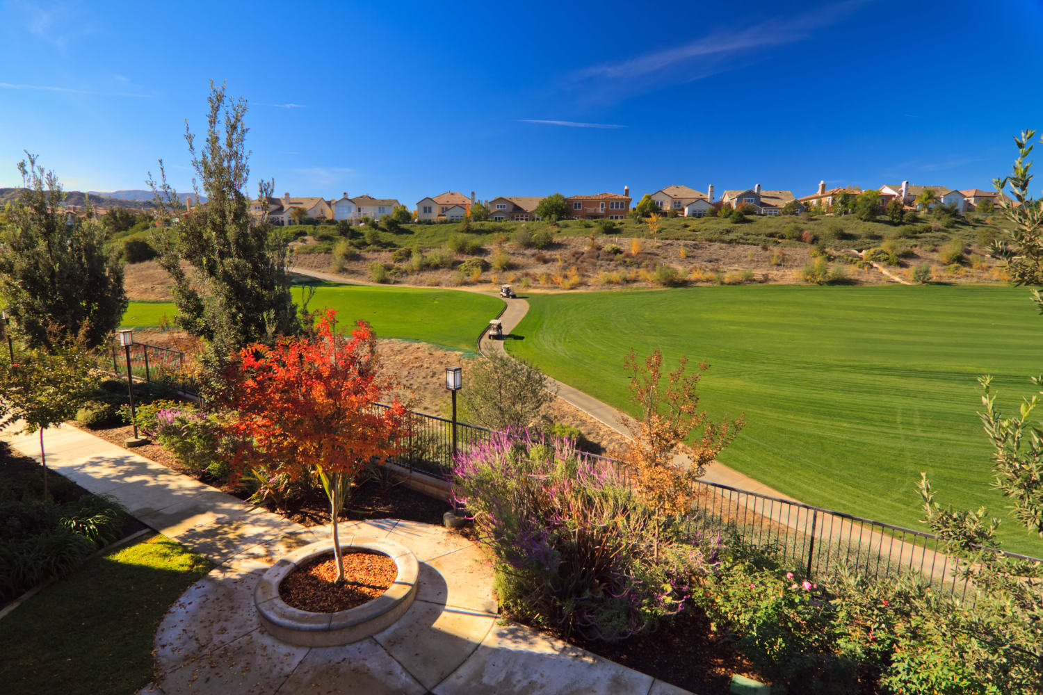 Links at Westridge in Valencia, California, overlooks a golf course