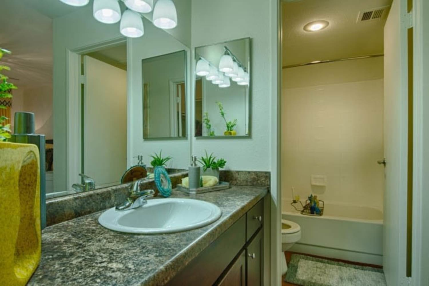 Large and bright bathrooms at Cabrillo Apartments in Scottsdale, Arizona