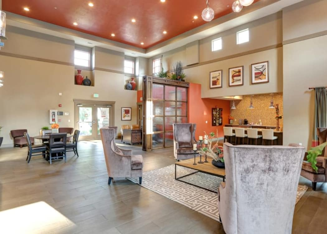 Luxury clubhouse at Meadowbrook Station Apartments in Salt Lake City, Utah