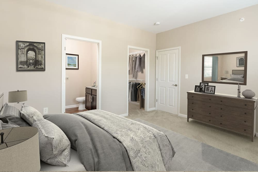 Spacious bedroom at Canal Crossing in Camillus