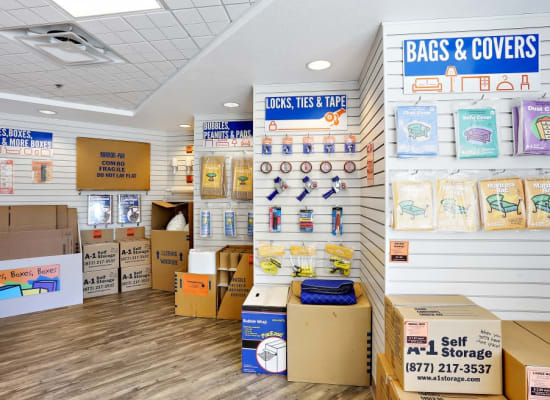 Packing and moving supplies available at A-1 Self Storage in Chula Vista, California
