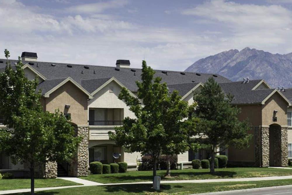 Exterior of Alpine Meadows Apartments in Sandy, Utah