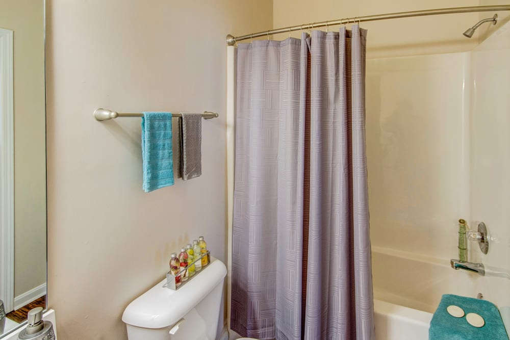 Spacious restroom in an apartment home at Aspen Pines Apartment Homes in Wilder, Kentucky