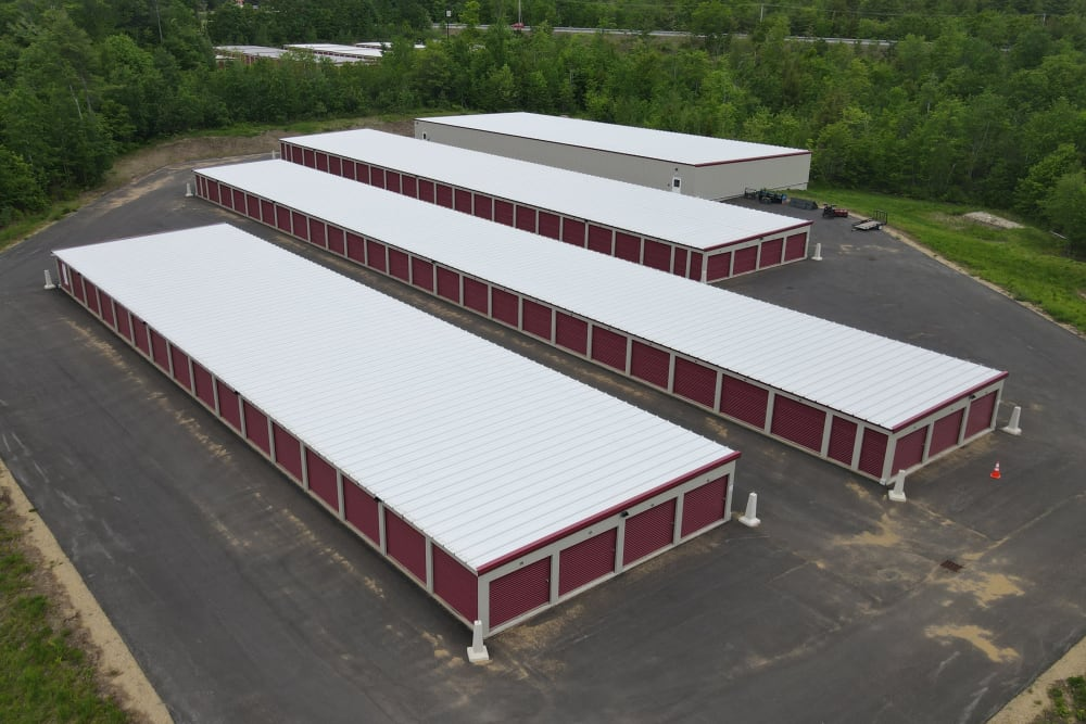 Eagle eye view of property at 603 Storage - Pittsfield in Pittsfield, New Hampshire