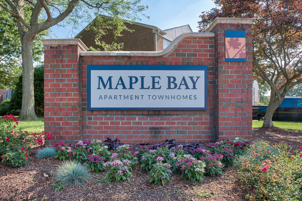 Entry Sign at Maple Bay Townhomes in Virginia Beach, Virginia