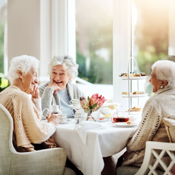 Women dining together at The Crest at Citrus Heights in Citrus Heights, California