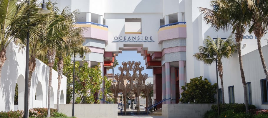 Welcome sign in Oceanside, California