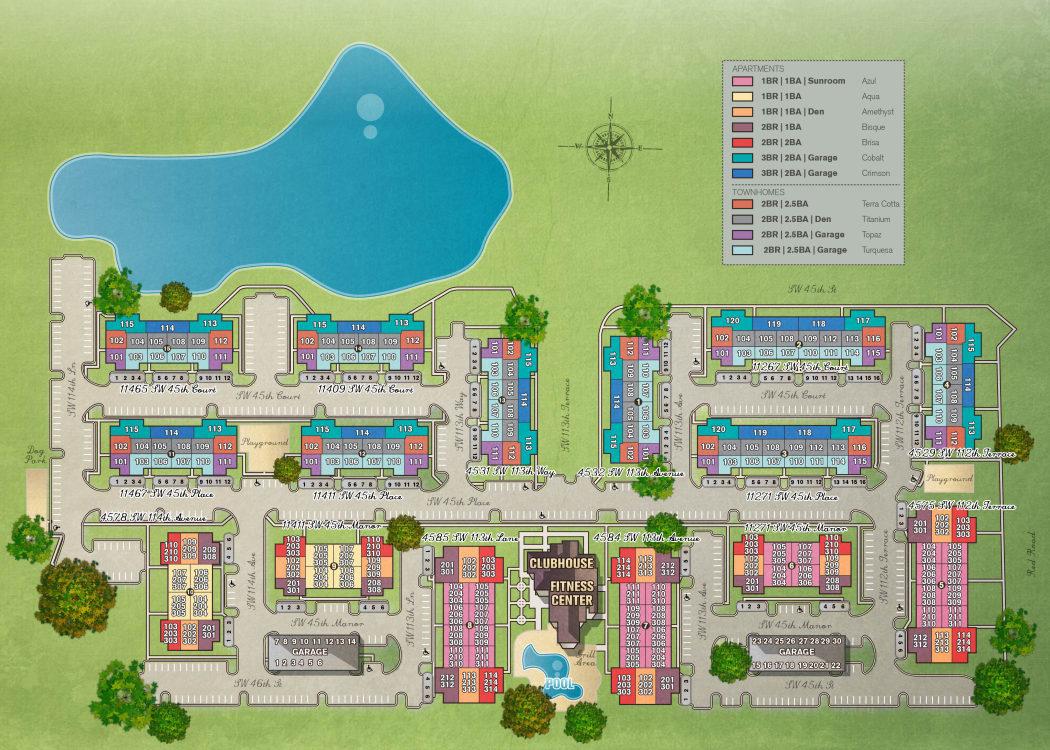 Site plan for IMT Miramar in Miramar, Florida
