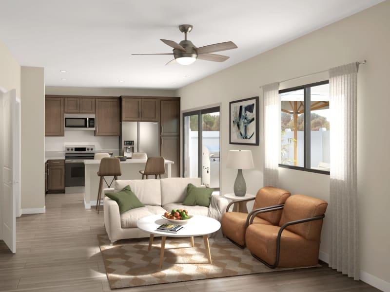 Brand-new 1, 2 & 3 bedroom detached homes at Tavalo at Cadence in Mesa, Arizona
