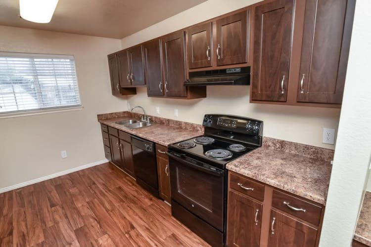 Enjoy a modern kitchen at Cherry Lane Apartment Homes in Bountiful