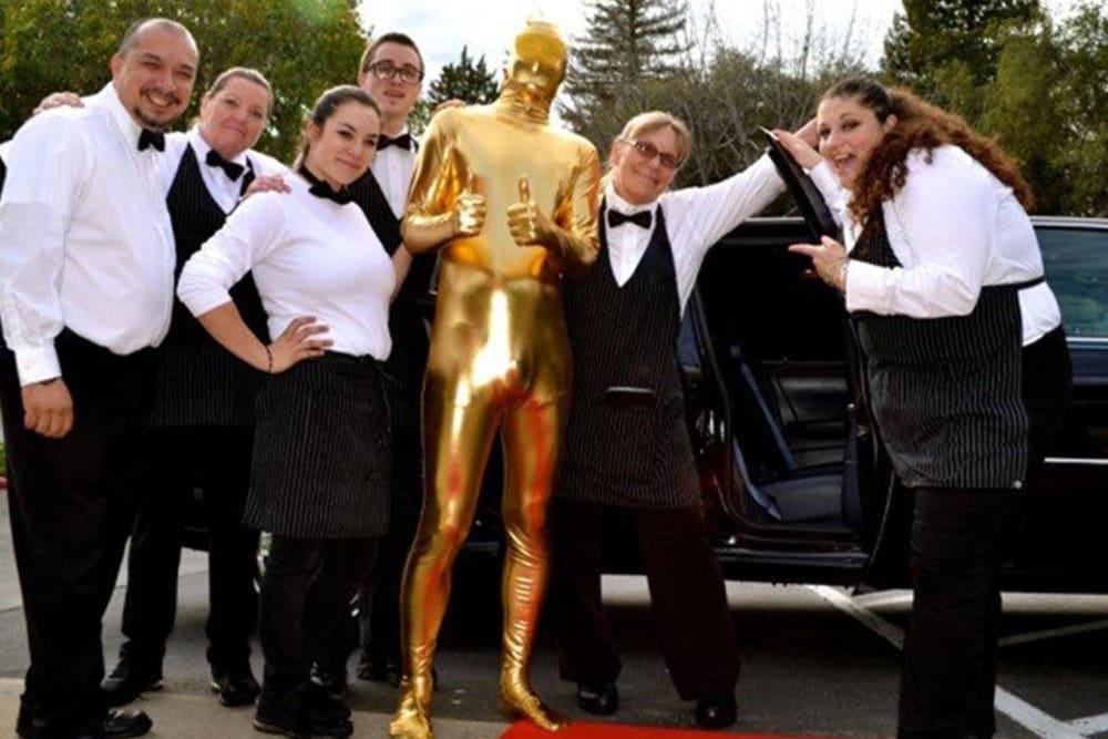 Oscar party at Roseville Commons Senior Living in Roseville, California