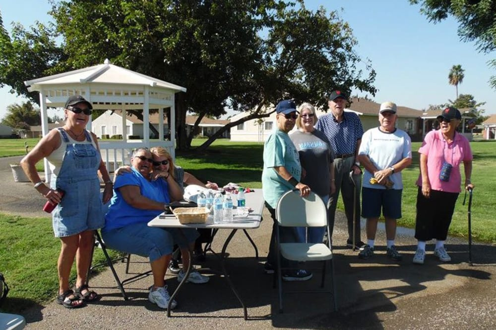 Outdoor fun at Castle Vista Senior Duplex Community in Atwater, California
