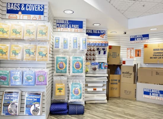 Packing and storing supplies at A-1 Self Storage in San Jose, California
