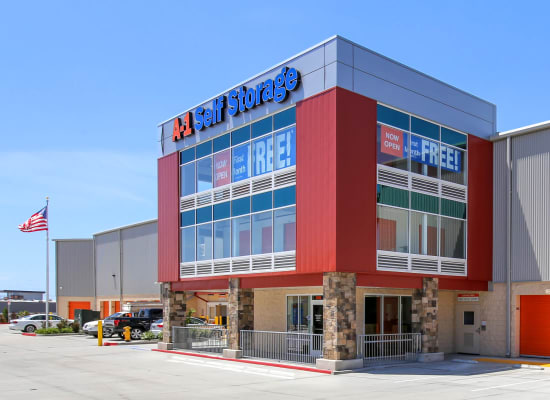 Front entry to A-1 Self Storage in National City, California