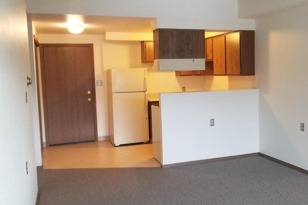 Living area at Tamarin Square in Durango, Colorado