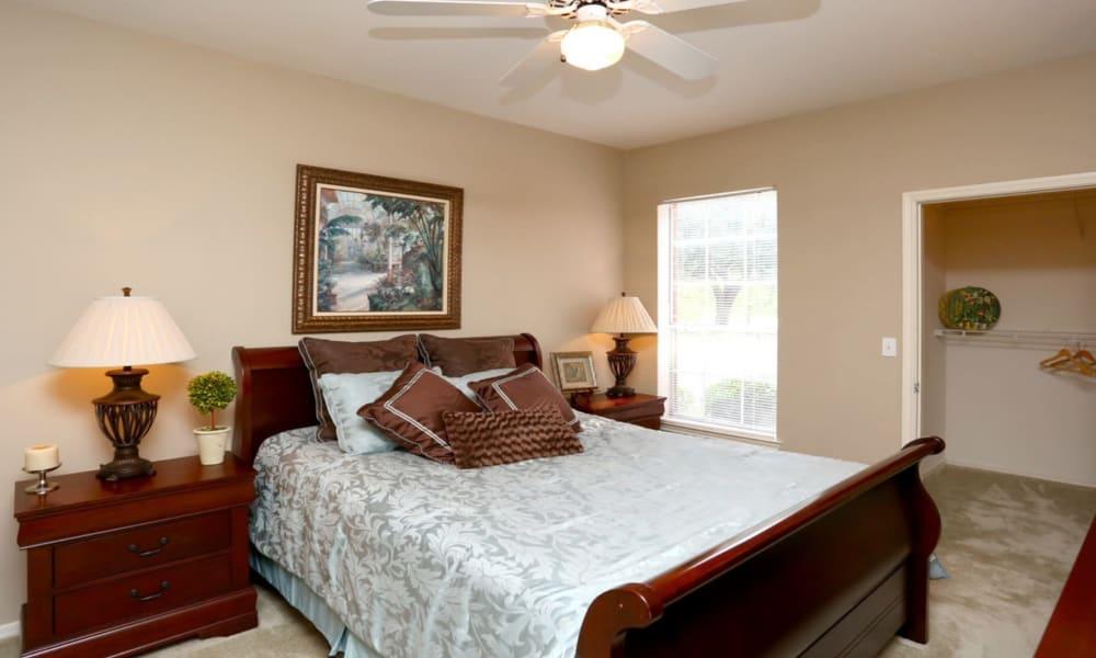 Bedroom at Champion Lake Apartment Homes in Shreveport, Louisiana