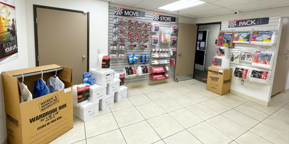 Packing supplies available at StorQuest Self Storage in Oxnard, California