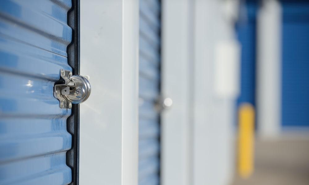 Lock on storage at Devon Self Storage in Wyoming, Michigan